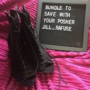 Just fab laced up booties